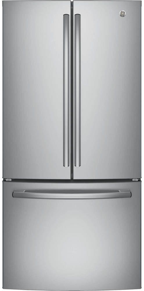 GE® Series 24.8 Cu. Ft. French Door Refrigerator-Stainless Steel-GNE25JSKSS