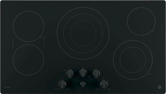 """GE Profile™ Series 36"""" Black Electric Cooktop-PP7036DJBB"""