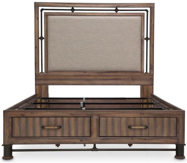 Michael Amini® Crossings Reclaimed Barn Eastern King Panel Bed With Drawers-KI-CRSG014EKDW-217