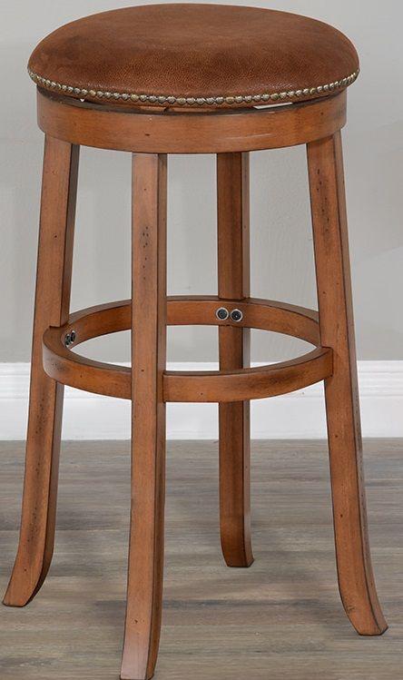 Sunny Designs Rustic Oak Swivel Barstool-1646RO-30