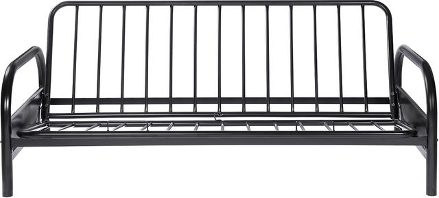 Coaster® Glossy Black Tufted Futon Frame-2334