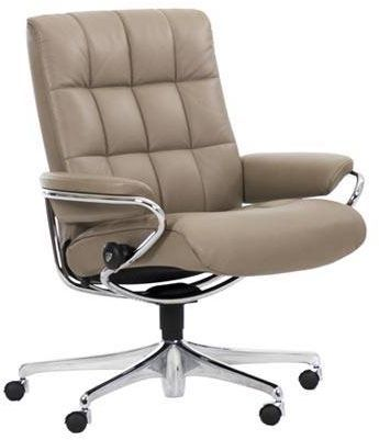 Stressless® by Ekornes® London Low Back Star Base Office Chair-1339097