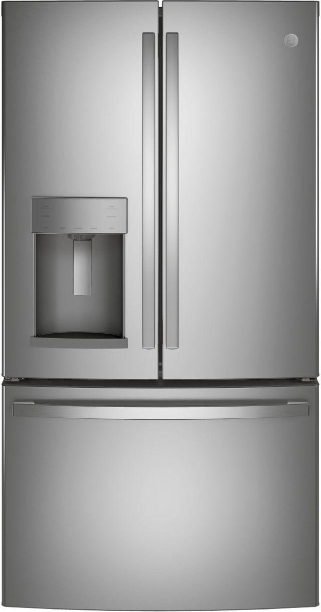 GE® 27.7 Cu. Ft. Fingerprint Resistant Stainless Steel French Door Refrigerator-GFE28GYNFS