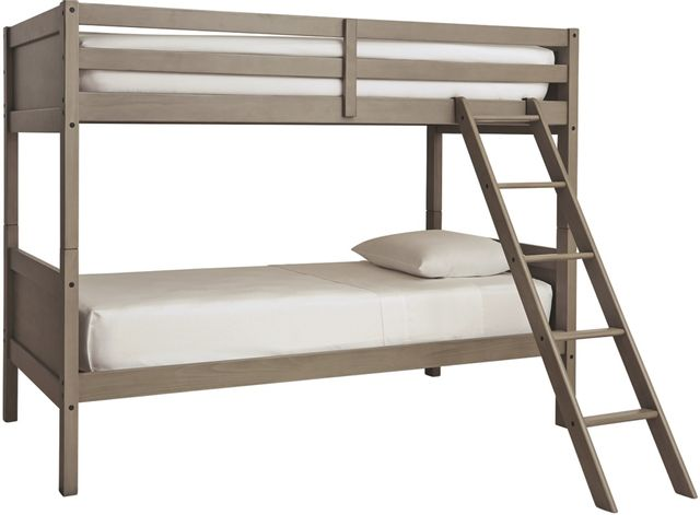 Signature Design by Ashley® Lettner Light Gray Twin/Twin Bunk Bed w/Ladder-B733-59