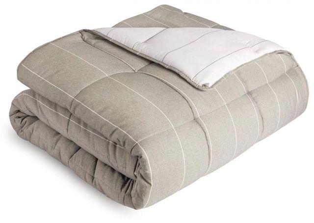 Malouf® Sleep Woven™ Chambray Birch Oversized Queen Comforter Set-MA90OQBIMICO