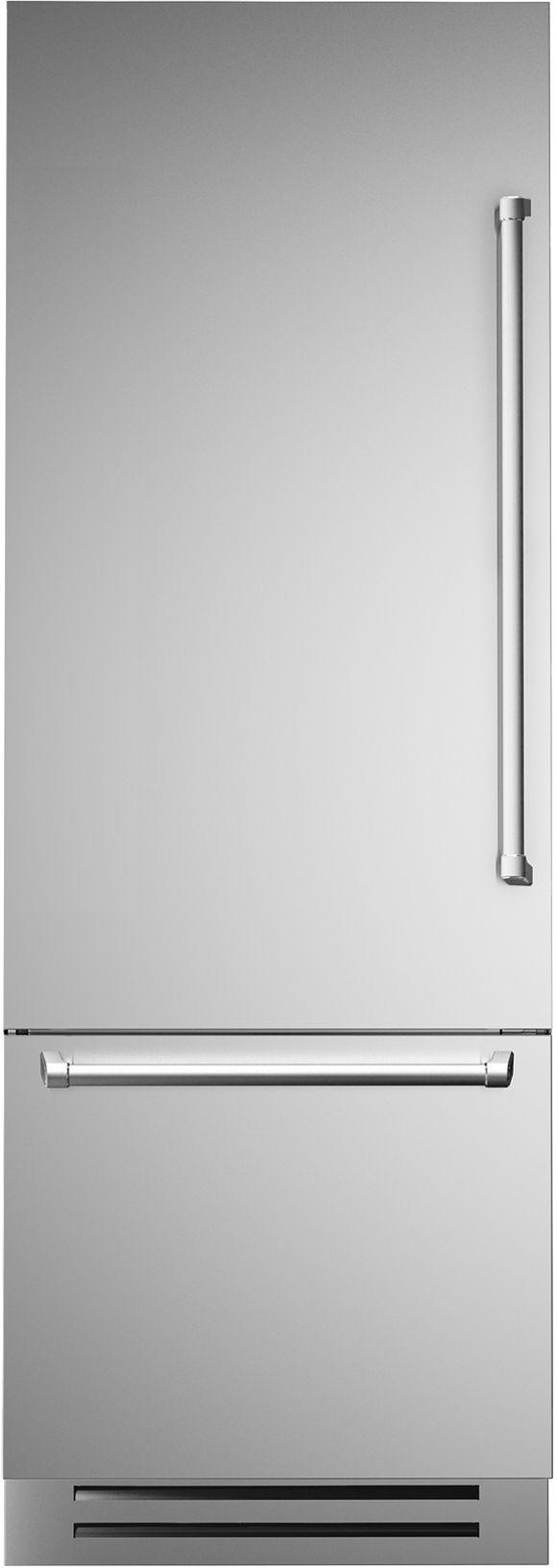 Réfrigérateur à congélateur inférieur de 30 po Bertazzoni® de 14,0 pi³ - Acier inoxydable-REF30PIXL