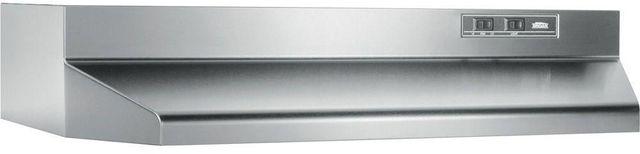 """Broan® 40000 Series 24"""" Stainless Steel Under Cabinet Range Hood-402404"""