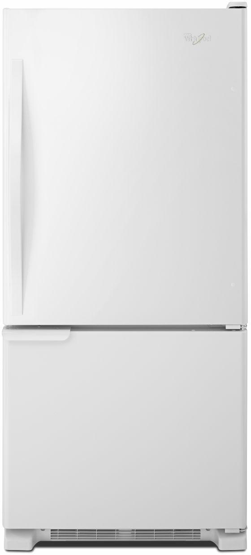 Whirlpool® Gold® 18.67 Cu. Ft. Bottom Freezer Refrigerator-White-WRB119WFBW