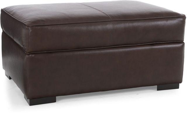 Decor-Rest® Furniture LTD 3900 Brown Leather Storage Ottoman-3900-OTTOMAN