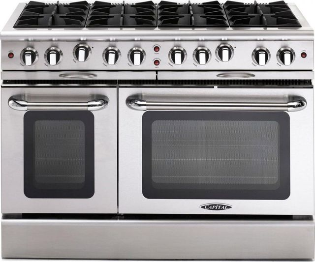 """Capital Culinarian 48"""" Stainless Steel Free Standing Gas Range-MCOR488L"""