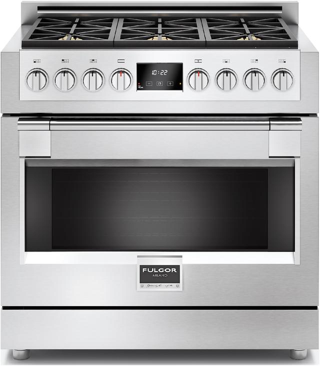 "Fulgor Milano® Sofia 600 Series 36"" Pro Style Gas Range-Stainless Steel-F6PGR366S1"