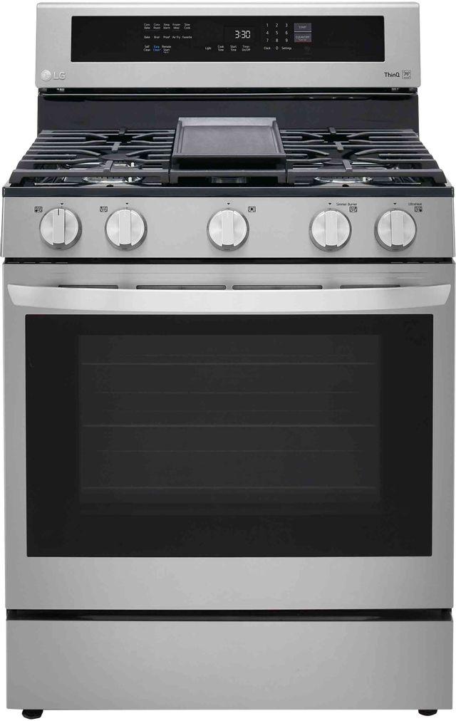 Cuisinière au gaz autoportante LG® de 5,8 pi³ de 30 po - Acier inoxydable résistant aux traces de doigts-LRGL5825F