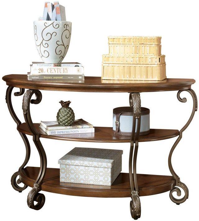 Signature Design by Ashley® Nestor Medium Brown Sofa Table-T517-4