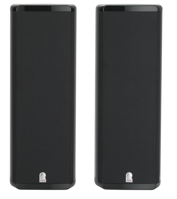 Revel® Concerta™ Series Black Gloss 2-Channel Home Theater Sound Support System-REVM8SP2BLK