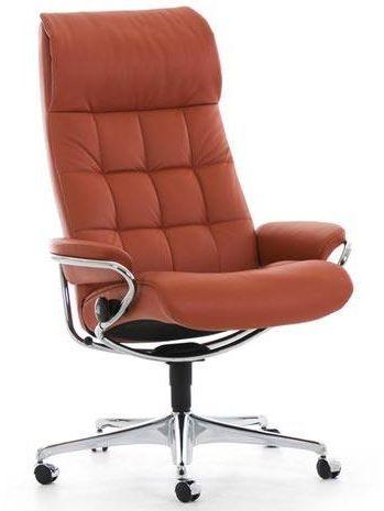 Stressless® by Ekornes® London High Back Star Base Office Chair-1340097