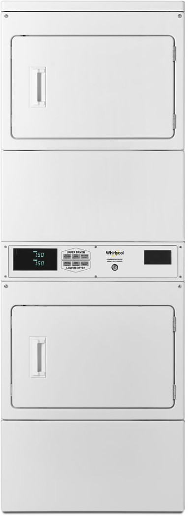 Whirlpool® Commercial 7.4 Cu. Ft. White Stack Dryer-CSP2971HQ