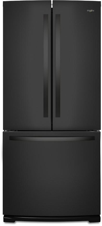 Whirlpool® 19.68 Cu. Ft. French Door Refrigerator-Black-WRF560SMHB
