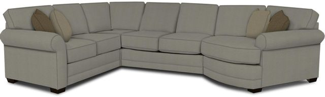 England Furniture Co. Brantley 4 Piece Culpepper Cement/Alvarado Mineral/Cornell Pewter Sectional-5630-28-22-43-95+8612+6432+8601