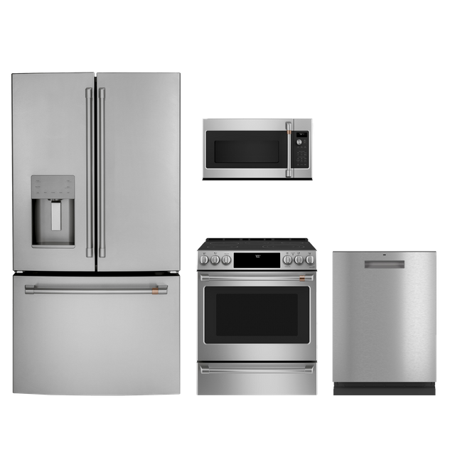 Café™ 4 Piece Kitchen Package-Stainless Steel-CAKITCFE26KP2NS1