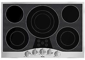"""Viking® Professional Series 36"""" Electric Cooktop-Stainless Steel/Black Glass-RVEC3365BSB"""