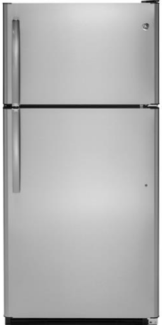 GE® 20.8 Cu. Ft. Top-Freezer Refrigerator-Stainless Steel-GTS21FSKSS