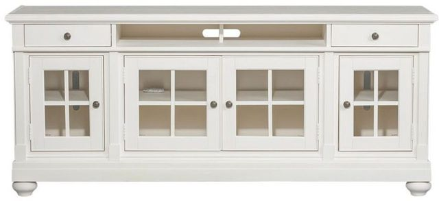 """Liberty Furniture Harbor View Distressed Linen Entertainment 62"""" TV Stand-631-TV62"""