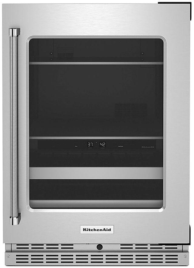 KitchenAid® 4.89 Cu. Ft. Stainless Steel Beverage Center-KUBR314KSS