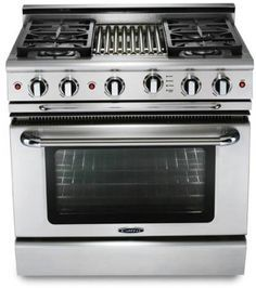 """Capital Culinarian 36"""" Stainless Steel Free Standing Gas Range-MCOR364BN"""