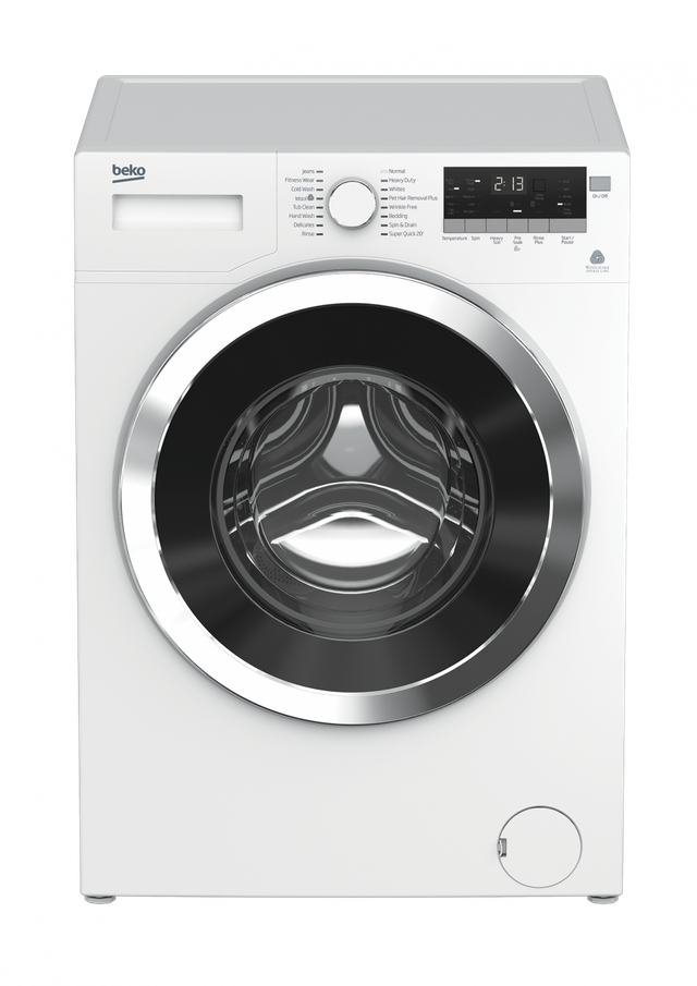 Beko 2.5 Cu. Ft. White Front Load Washer-WMY10148C2