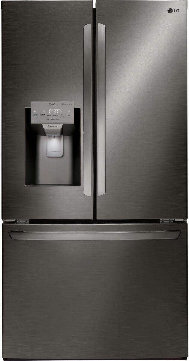 LG 26.20 Cu. Ft. Black Stainless Steel French Door Refrigerator-LFXS26973D