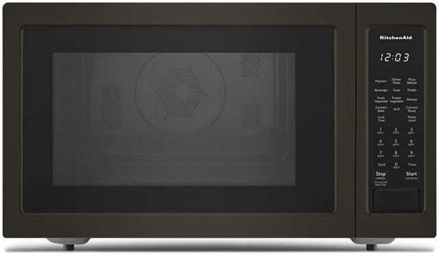 KitchenAid® 1.5 Cu. Ft. Black Stainless Steel with PrintShield™ Finish Countertop Convection Microwave Oven-KMCC5015GBS