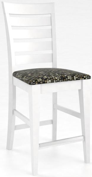 Tabouret en bois, blanc, Canadel®-SNF09008UN50M24F
