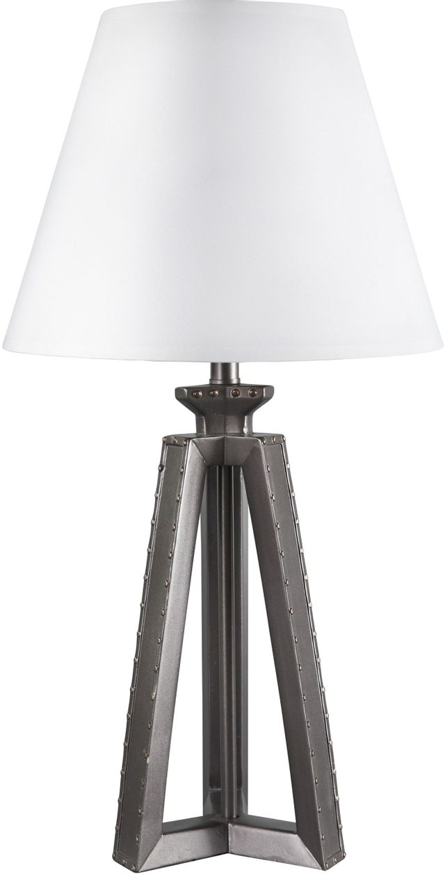 Signature Design by Ashley® Sidony Metallic Gray Poly Table Lamp-L856304