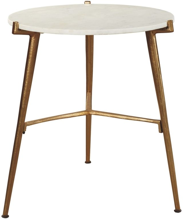 Signature Design by Ashley® Chadton White/Gold Finish Accent Table-A4000004