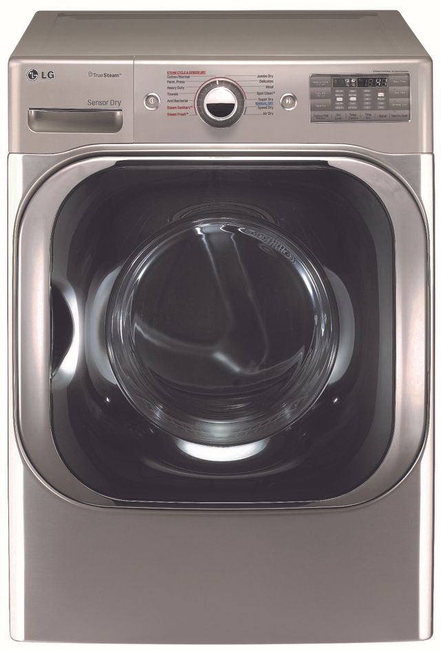 LG 9.0 Cu. Ft. Graphite Steel Front Load Gas Dryer-DLGX8101V