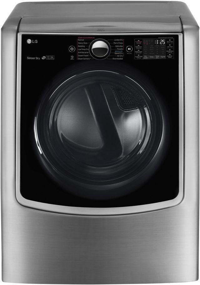 LG 9.0 Cu. Ft. Graphite Steel Front Load Gas Dryer-DLGX9001V