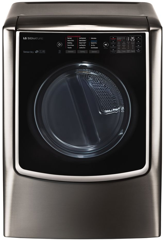 LG Signature 9.0 Cu. Ft. Black Stainless Steel Front Load Gas Dryer-DLGX9501K
