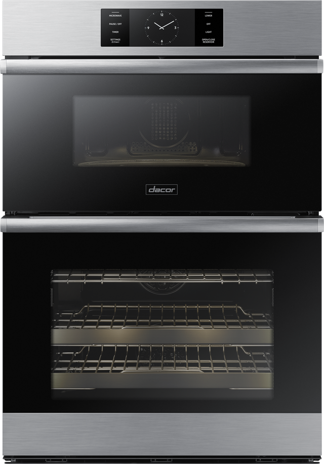 """Dacor® Contemporary 29.75"""" Silver Stainless Steel Electric Micro Combination Oven-DOC30M977DS"""