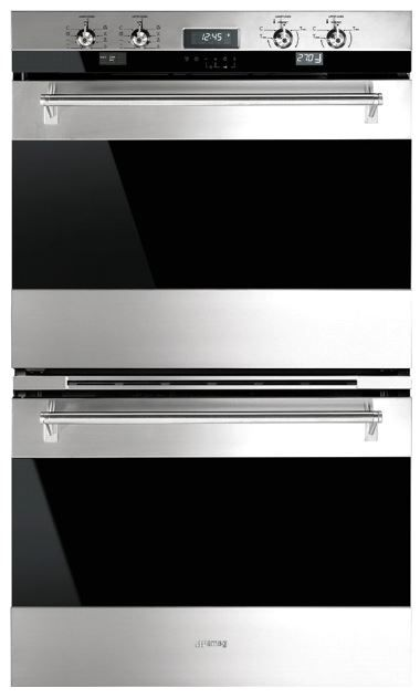 """Smeg 30"""" Classic Electric Multifunction Double Oven-Stainless Steel-DOU330X1"""