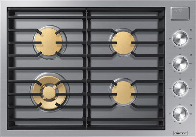 """Dacor® Contemporary 30"""" Stainless Steel Gas Cooktop-DTG30M954FS"""