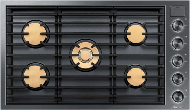 """Dacor® Contemporary 36"""" Gas Cooktop-Graphite Stainless Steel-DTG36M955FM"""