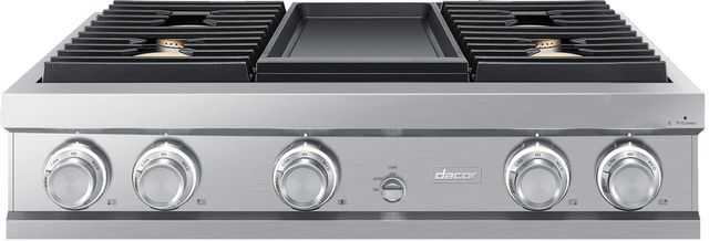 """Dacor® Contemporary 36"""" Stainless Steel Gas Rangetop-DTT36M974PS"""