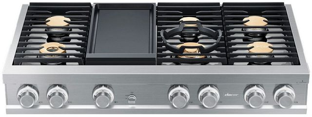 "Dacor® Contemporary 48"" Stainless Steel Gas Rangetop-DTT48M976LS"