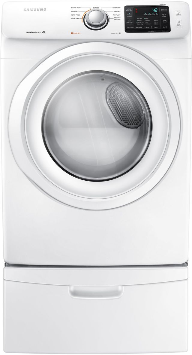 Samsung Front Load Electric Dryer-White-DV42H5000EW