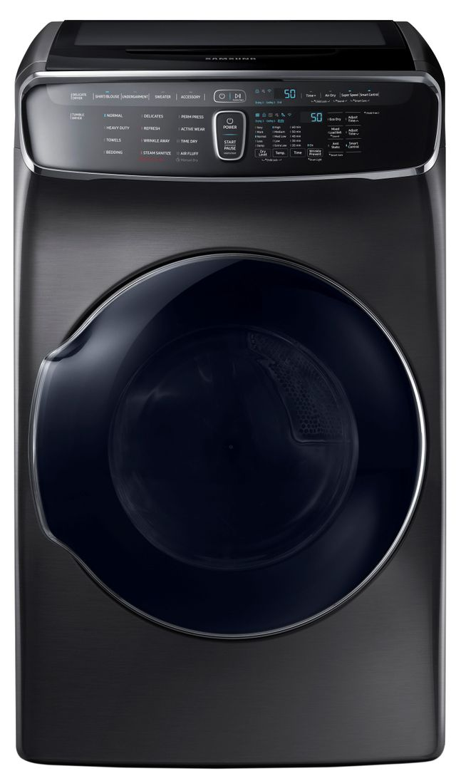 Samsung FlexDry™ Electric Dryer-Fingerprint Resistant Black Stainless Steel-DVE60M9900V