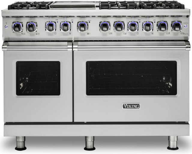 "Viking® 7 Series 48"" Stainless Steel Pro Style Dual Fuel Range-VDR74826GSSLP"