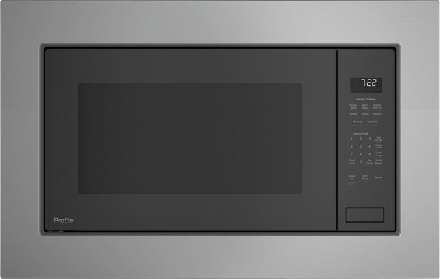 GE Profile™ 2.2 Cu. Ft. Gray Built-In Microwave Oven-PEB7227ANDD