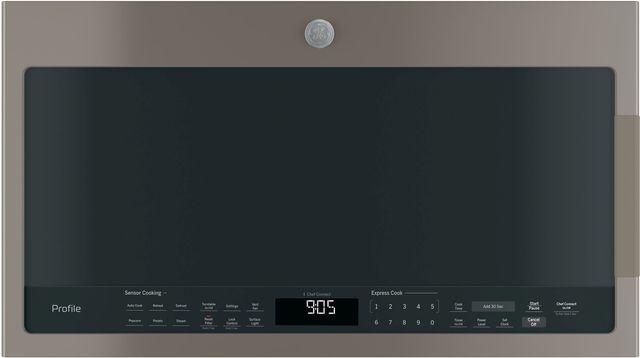 GE Profile™ 2.1 Cu. Ft. Slate Over The Range Sensor Microwave Oven-PVM9005EJES