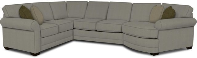 England Furniture Co. Brantley 4 Piece Culpepper Cement/Alvarado Mineral/Handwoven Slate Sectional-5630-28-22-43-95+8612+8447+8601