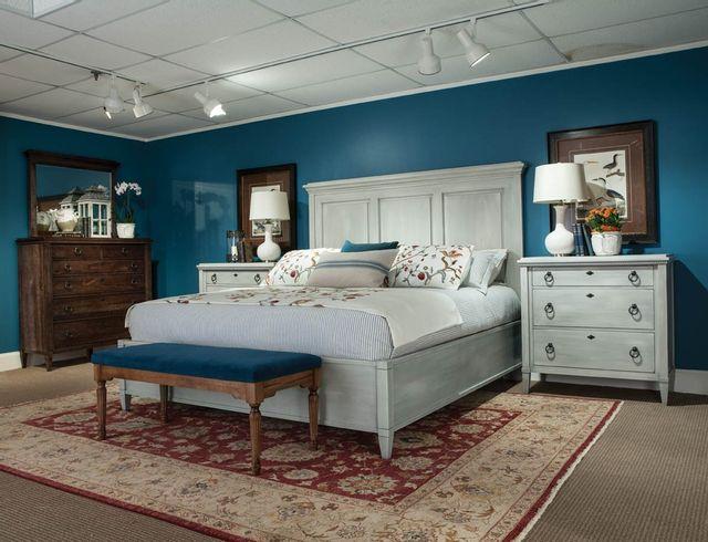 Lit à panneaux grand Springville, blanc, Durham Furniture®-145-124